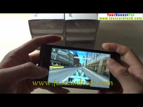 JiaYu G3 Dual core 1G RAM kick off Run 3D Game reviews asphalt 6