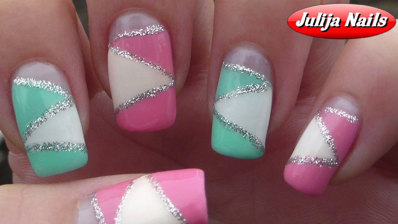 Геометрия на ногтях гель-лаком (36 фото как сделать дизайн) 25