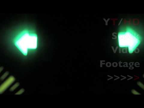 Interior Vehicle Car Hazard Lights w/ Switch On Flashing as a Warning | HD Stock Video Footage