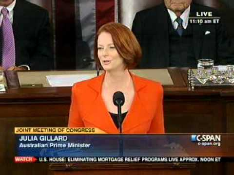 Julia Gillard's speech to US Congress PART 1of3 March 09, 2011