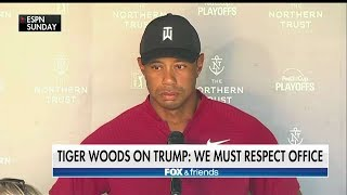 'Must Respect the Office': Tiger Woods Questioned on His 'Friendly Relationship' With Trump
