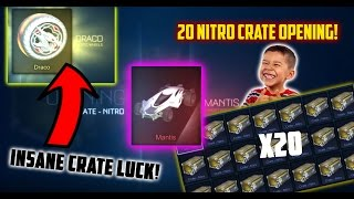 BEST 20 NITRO CRATE OPENING | GETTING THE NEW MANTIS CAR AND CERTIFIED DRACO WHEELS BEST LUCK EVER