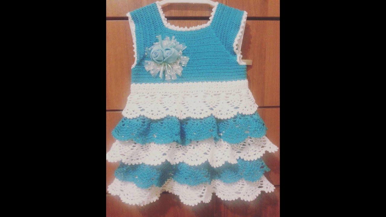 Вязание платья лужок 1 часть 81