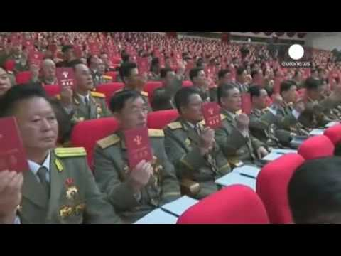 North Korea stages mass rally in Pyongyang