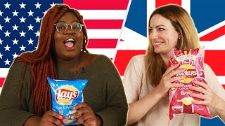 American & British People Swap Snacks