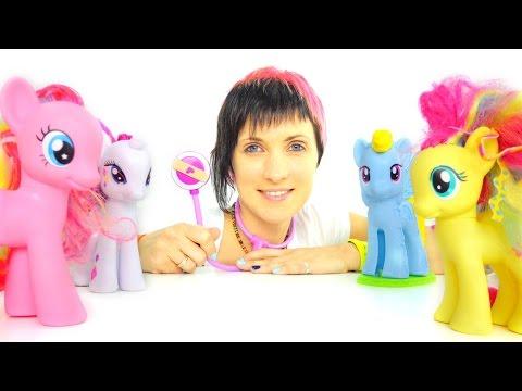 Видео для детей. Игрушечные Литл пони и ветеринарная клиника