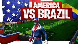 America vs Brazil Fortnite Edition