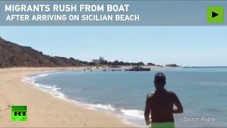 Cannibals' Boats Hit Giallonardo Sicily Beaches- Humans Afraid They Will Be Eaten By Niggers