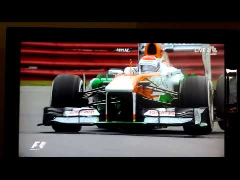 Adrian Sutil JUMPS his Force India F1 car in Montreal.