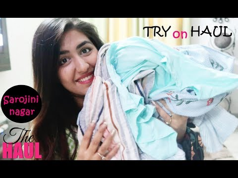 Sarojini Nagar Summer Try on Haul, Branded clothes 100rps, Best quality