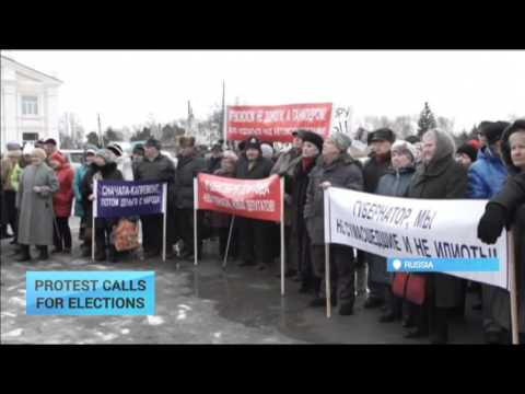 Protest Calls For Elections: Hundreds rally against authorities in Russian Artyomovsk