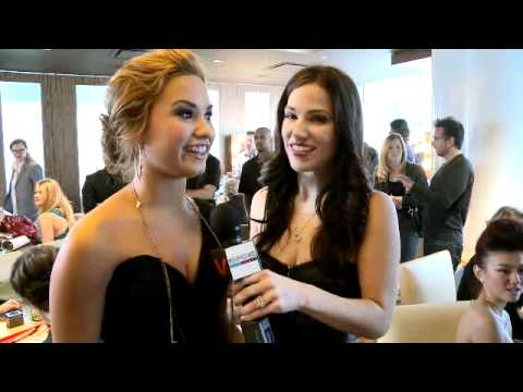 Demi Lovato Christian Chavez Agnes Monica Exclusive American Music Awards