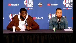 Steph Curry and Draymond Green | Game 3 NBA Finals Press Conference