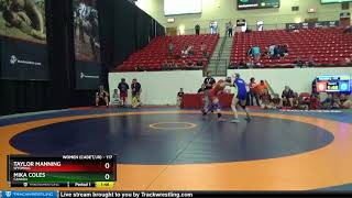 WOMEN (CADET-JR) 117 Taylor Manning Wyoming Vs Mika Coles Canada