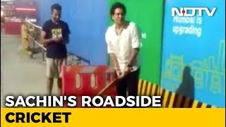 Watch Sachin Tendulkar Plays Gully Cricket In Mumb