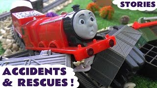 Thomas and Friends Toy Trains Accidents & Play Doh Digging Rigs Rescues - Family Friendly Fun TT4u