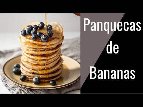 Panquecas de Banana y Huevo Baja en Calorias y Saludables