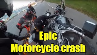 Epic motorcycle crash