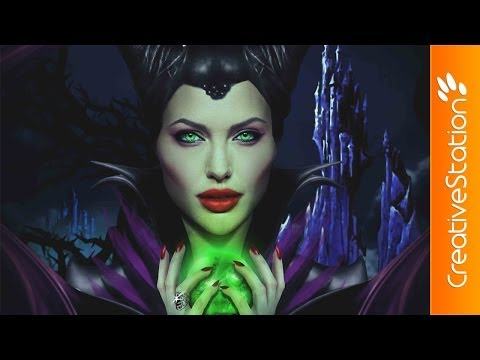 Maleficent / Angelina Jolie - Speed art (#Photoshop) | CreativeStation