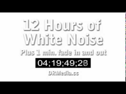 12 Hours of White Noise (Static) in Stereo. Favorite it for the future. Studying Sleep Tinnitus