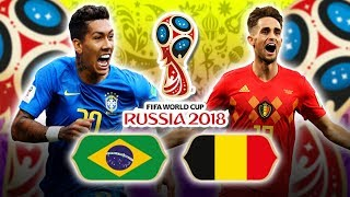 BRAZIL IS OUT😱😱!!!! 1:2 BRAZIL vs. BELGIUM 06.07.2018   FIFA WORLD CUP 2018 with Stickers
