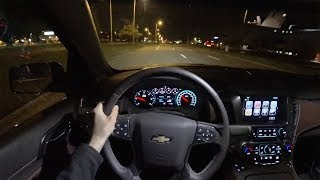 2018 Chevrolet Tahoe RST Performance Edition - POV Night Driving Impressions (Binaural Audio)
