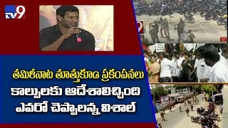 Hero Vishal reacts to Thoothukudi anti sterlite protests