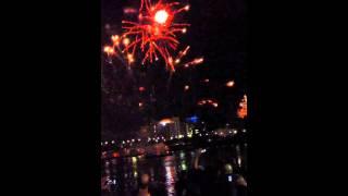 Riverfire 2012 Fireworks in Slow Motion 60fps 12
