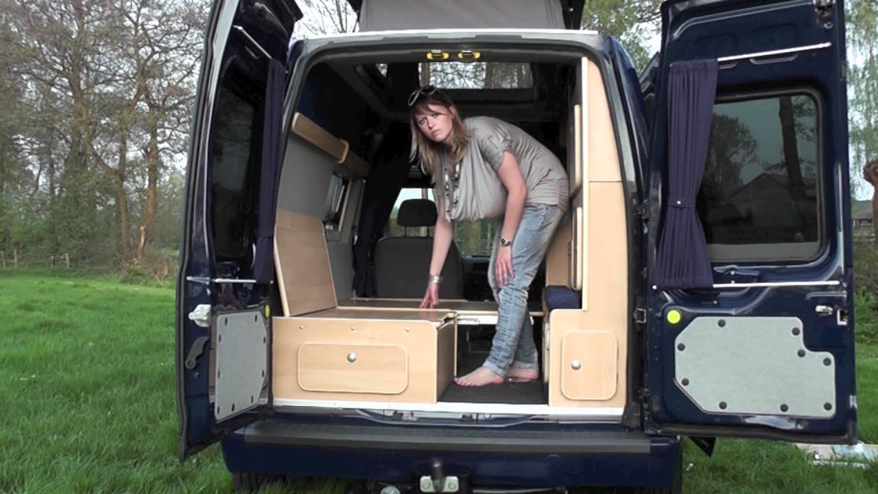 demonstration of minicamper by jb kampeerauto 39 s youtube. Black Bedroom Furniture Sets. Home Design Ideas