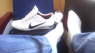 Playing with nike shox rivalry & sk8erboy socks in the train (part 1)