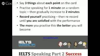 How to perform well in IELTS Speaking Part 2