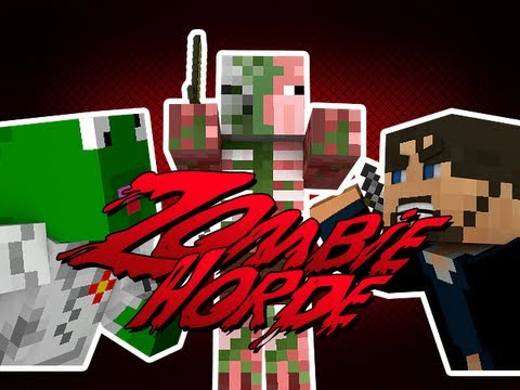 Minecraft Server Games - Zombie HORDE!! - Hunger Games Mixes with ZOMBIES!!