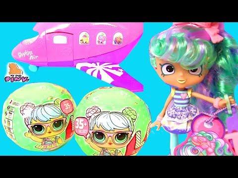 Куклы ЛОЛ Летят в Путешествие! Shopkins Air Jet Сюрпризы ЛОЛ. Видео для Детей | Май Тойс Пинк