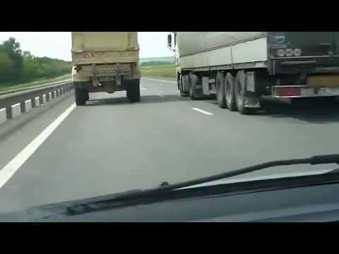 Speeding Truck doing 160 km h 99 miles h in a Highway