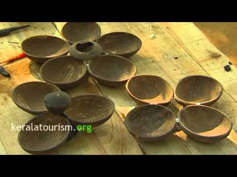 Coconut Shell Product, Salver, Handicrafts, Kerala