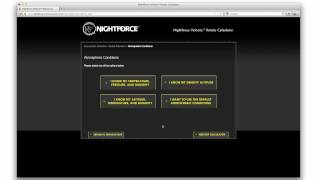 Nightforce - Velocity 1000 Reticle Selection using the Velocity Reticle Calculator.mp4