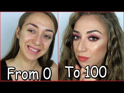 From 0 to 100| Καλοκαιρινό red smokey Makeup Tutoria| Polinasbeauty