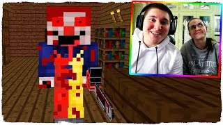 FLEE FROM THE CLOWN HOUSE IN MINECRAFT! - ANIMATION OF TERROR MONSTERS SCHOOL (VIDEO REACTION)