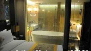 Hotel shower room smart glass smart film cut off the atomization glass