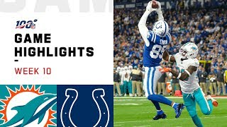 Dolphins vs. Colts Week 10 Highlights  NFL 2019