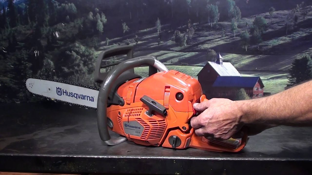 The chainsaw guy shop talk Husqvarna 555 chainsaw features ...