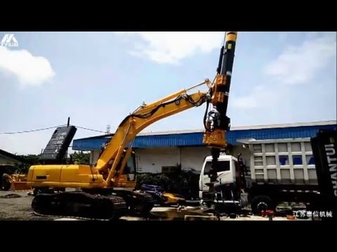 KR50 module rotary drilling rig used in Indonesia Max. depth 24m
