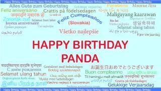 Panda   Languages Idiomas - Happy Birthday