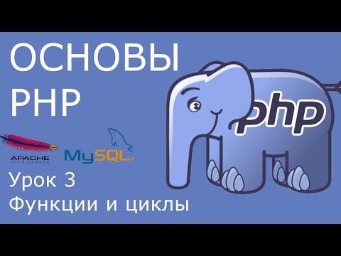 Основы PHP - урок 3. Функции и циклы.