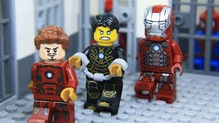 Lego Superhero IRON MAN's Suit was Stolen by SECRET AGENT