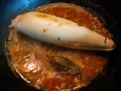 Calamar relleno- Receta de Cocina - RecetasNet