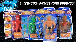 """Stretch Armstrong 6"""" Figures with Vac Man X-Ray and Stretch Monster Video Review"""