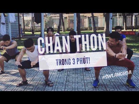 #ChallengeSML Tập chân thon gọn trong 3 phút! Street Workout Làng Hoa