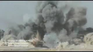 French anti-ISIS volunteers destroy an ISIS car bomb near Raqqa, Syria (Nov 2016)