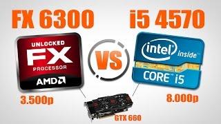 Тестирование i5 4570 + GTX 660 (vs FX 6300)